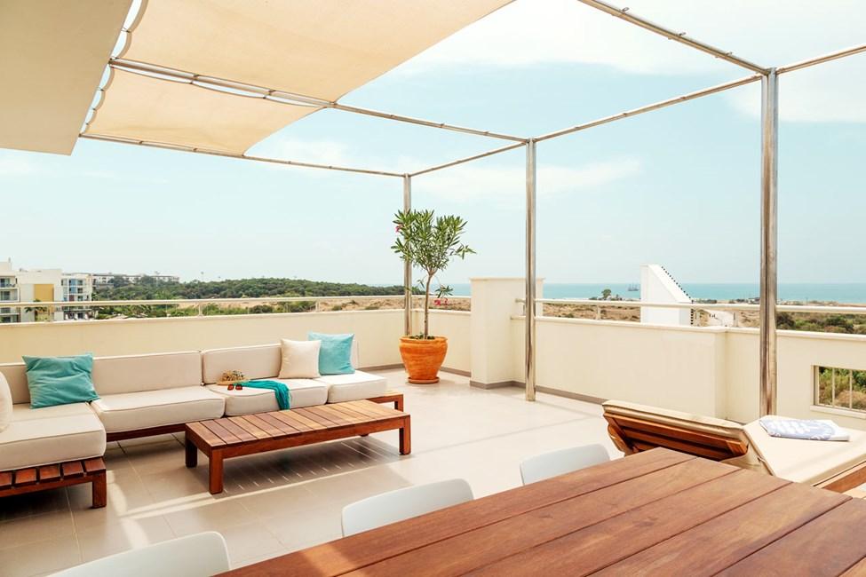 Royal Rooftop Suite med stor tagterrasse