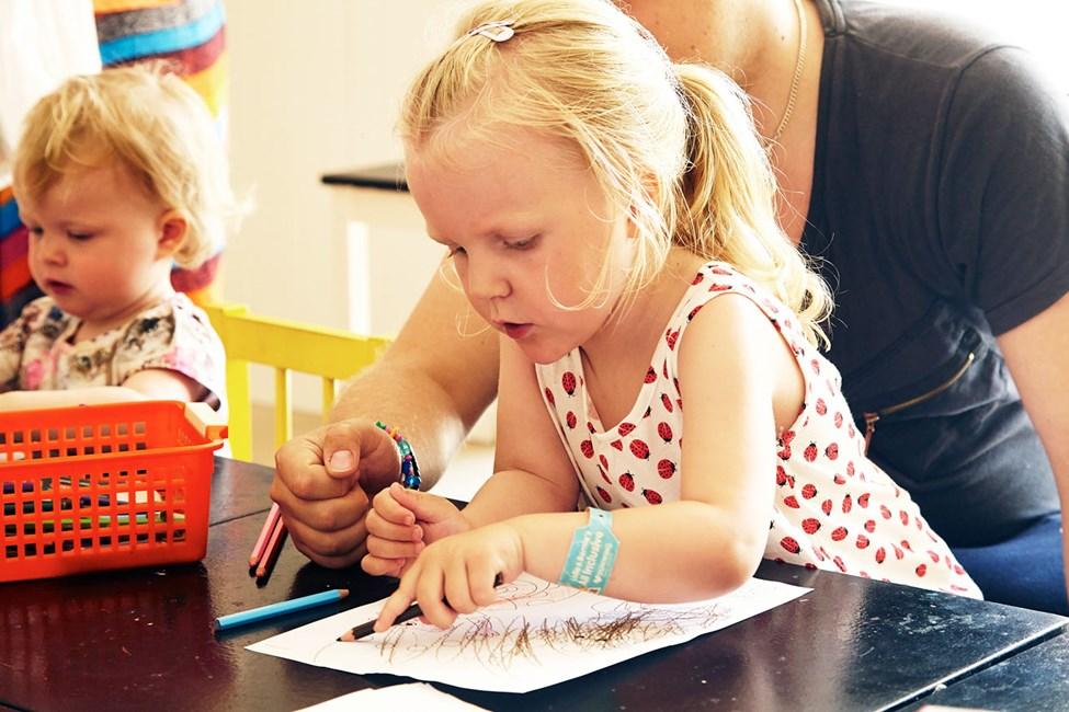 I Lollo & Bernie's Mini Land foregår der sjove aktiviteter for børnene