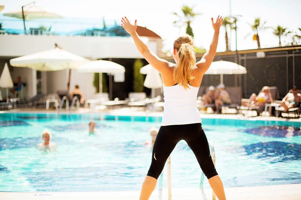 Vores dygtige instruktører underviser i Water Aerobic og holdtræning