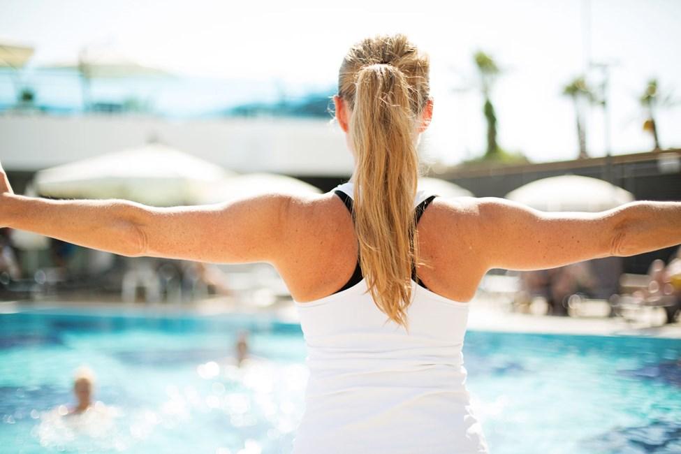 Water aerobic i poolen ledes af vores dygtige instruktører