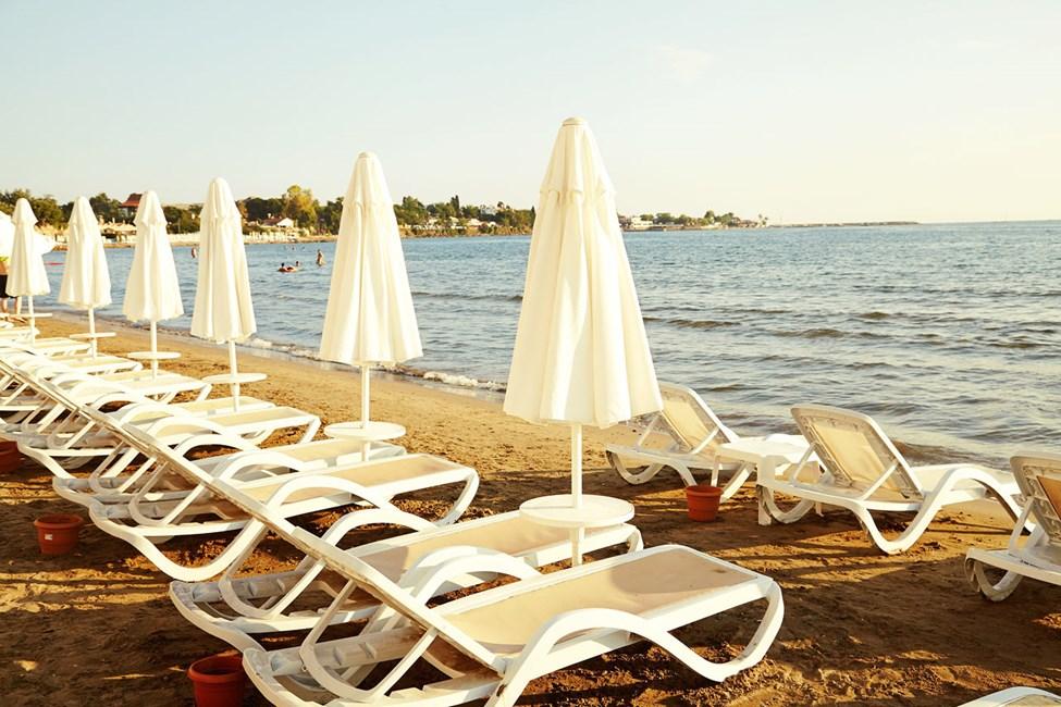 Sunprime Side Dogan Beach tilbyder gratis liggestole på stranden