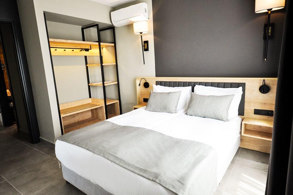3-værelses lejlighed med fire senge og balkon
