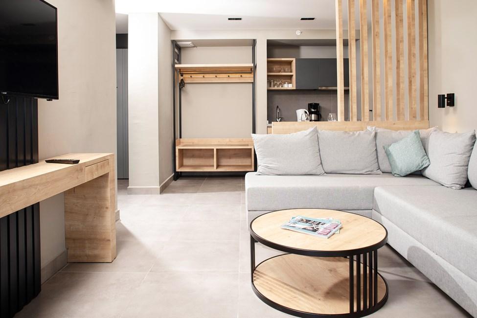 Opholdsstue/køkkenniche i alle 2-værelses lejligheder