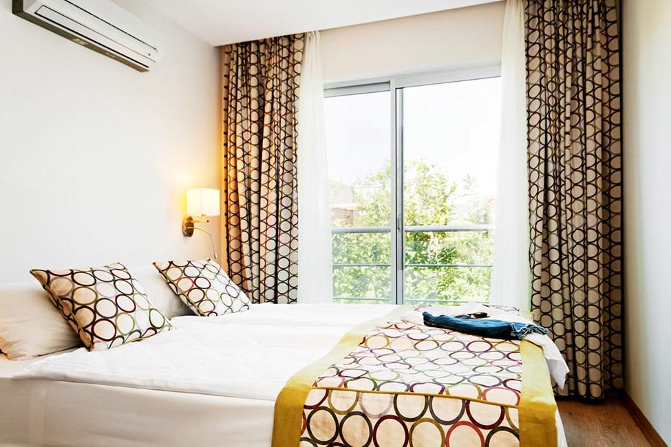 3-værelses lejlighed i hus/villa med fire senge