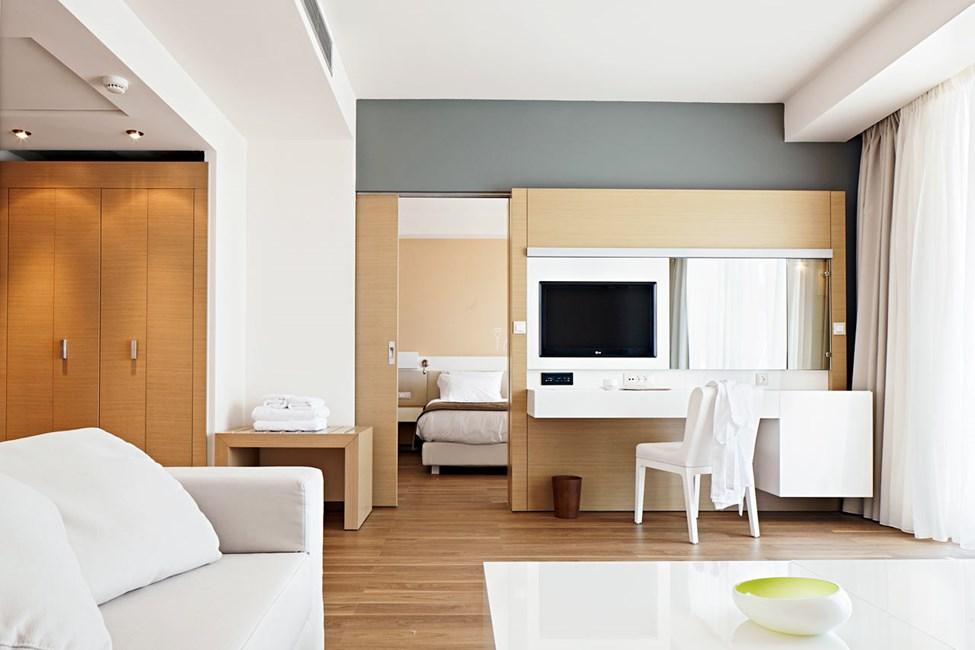 Suite med opholdsstue og soveværelse