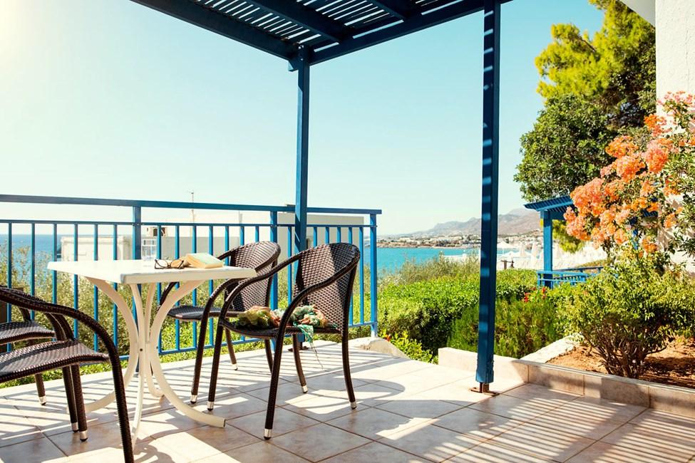 3-værelses Family-lejlighed med terrasse og balkon med havudsigt i Hera