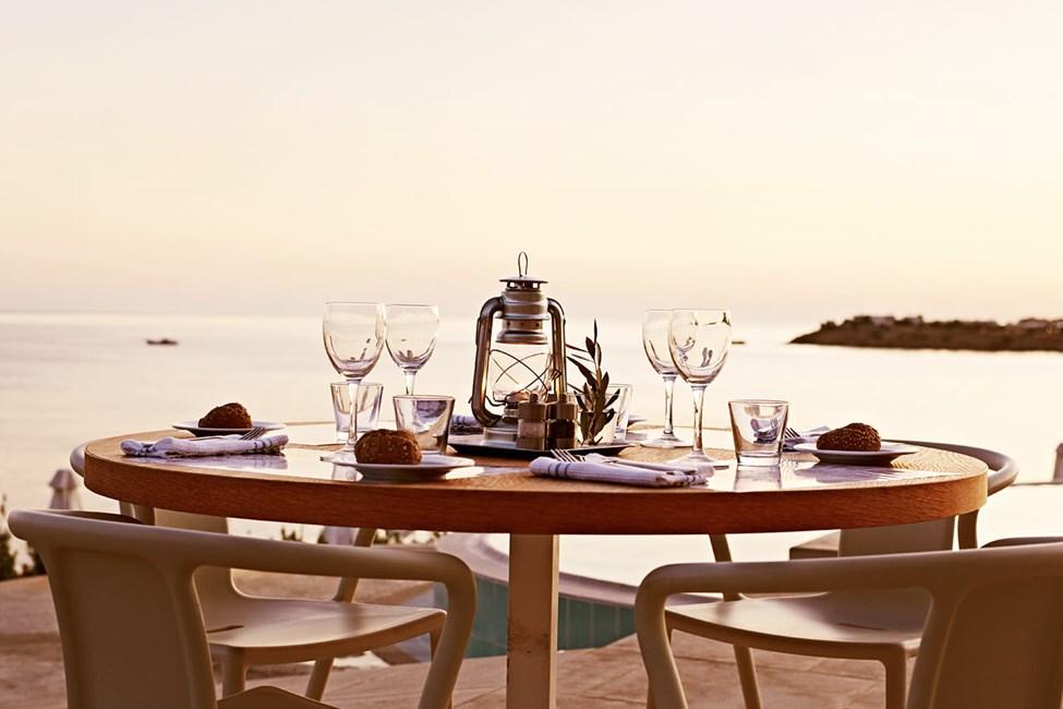 På Ocean Beach Restaurant kan du nyde den flotte udsigt, mens du spiser