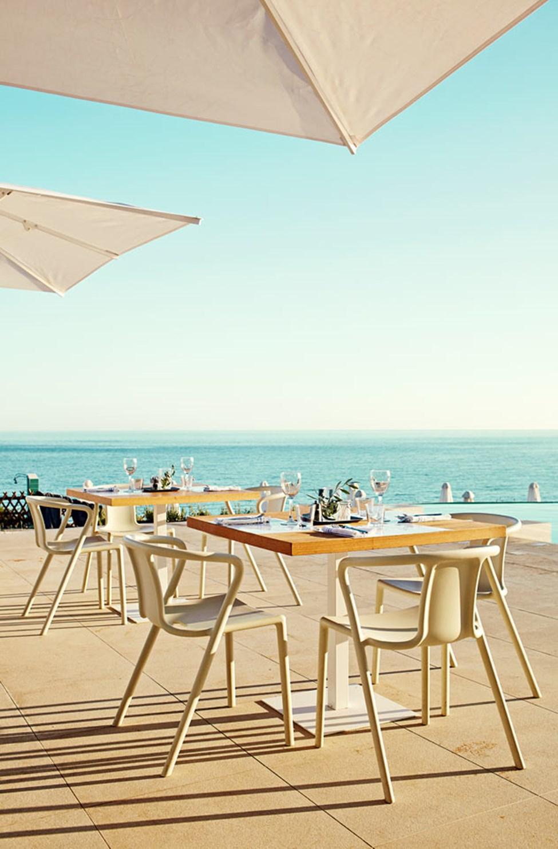 Restaurantens udeservering på Ocean Beach Club