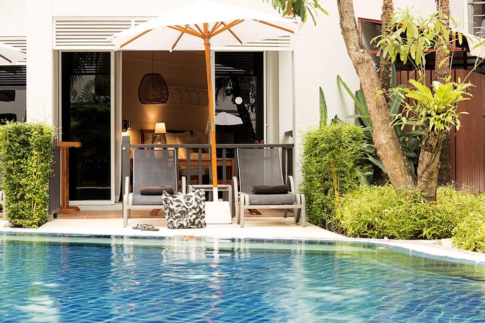 1-værelses Royal Family Suite med terrasse og direkte adgang til hotellets pool