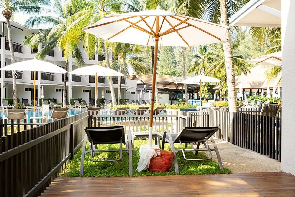 1-værelses Royal Lounge Suite med terrasse mod poolområdet