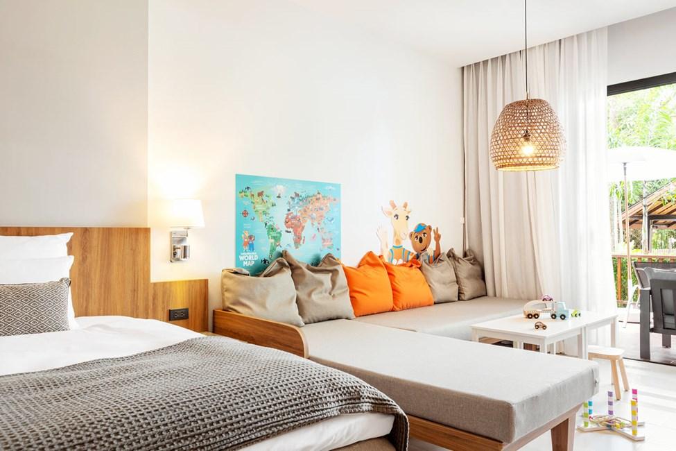 1-værelses Lollo & Bernie Suite med terrasse mod poolområdet