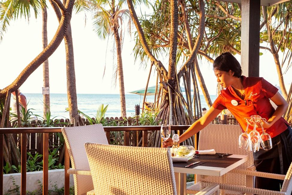 Fino Restaurant & Grill har flot udsigt over havet
