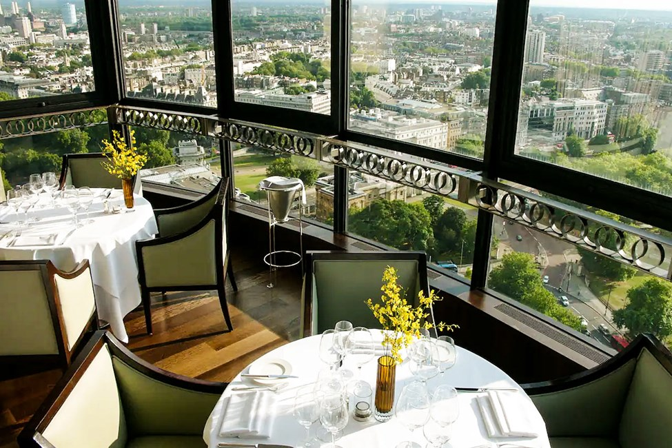 Den Michelin-belønnede restaurant Galvin at Windows