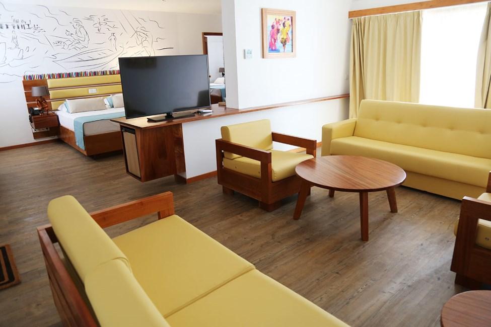 Suite med to rum mod havet