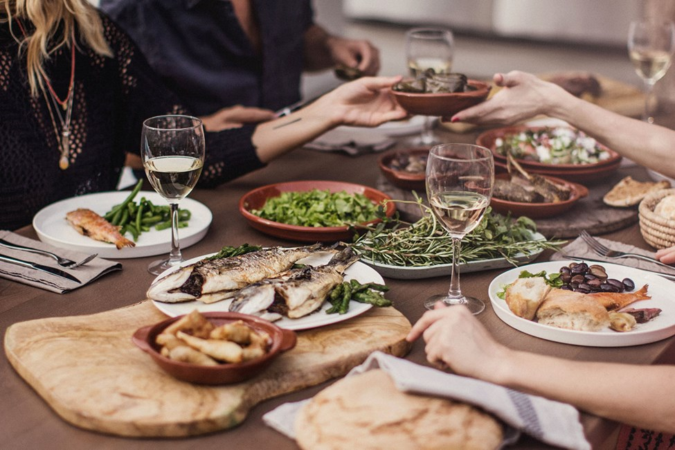 Nyd veltilberedt mad i restauranten