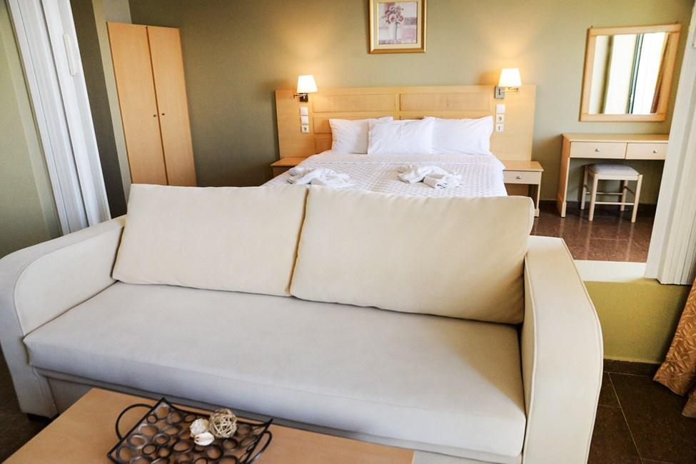 3-værelses lejlighed med fire senge og havudsigt