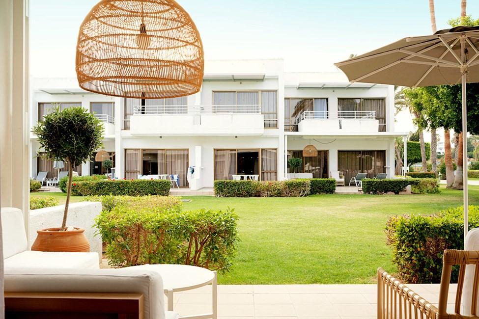 2-værelses Royal Lounge Suite med terrasse mod haven