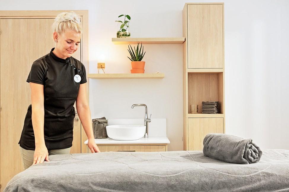 Nyd en afslappende behandling i spaafdelingen