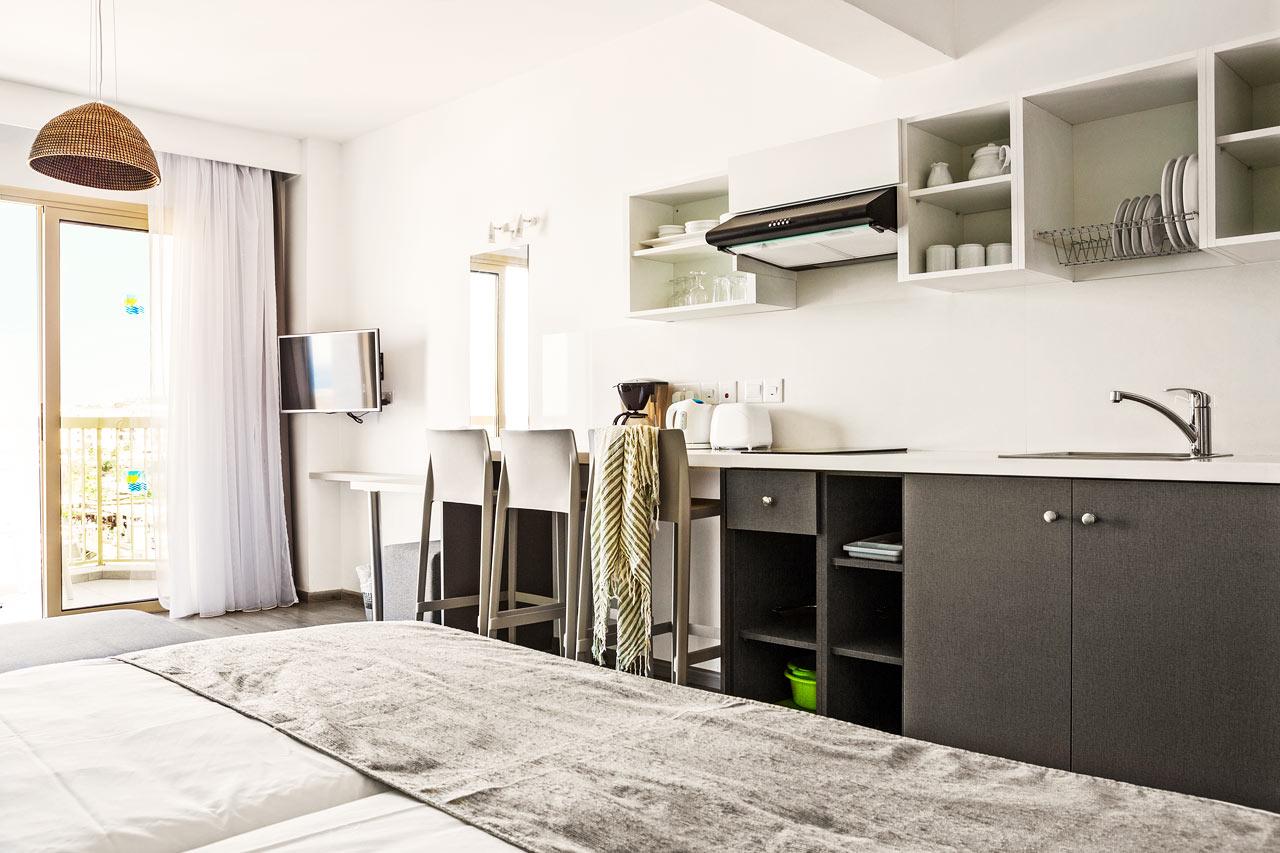 1-værelses lejlighed superior med balkon og havudsigt