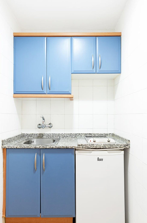 Køkkenniche i lejlighederne