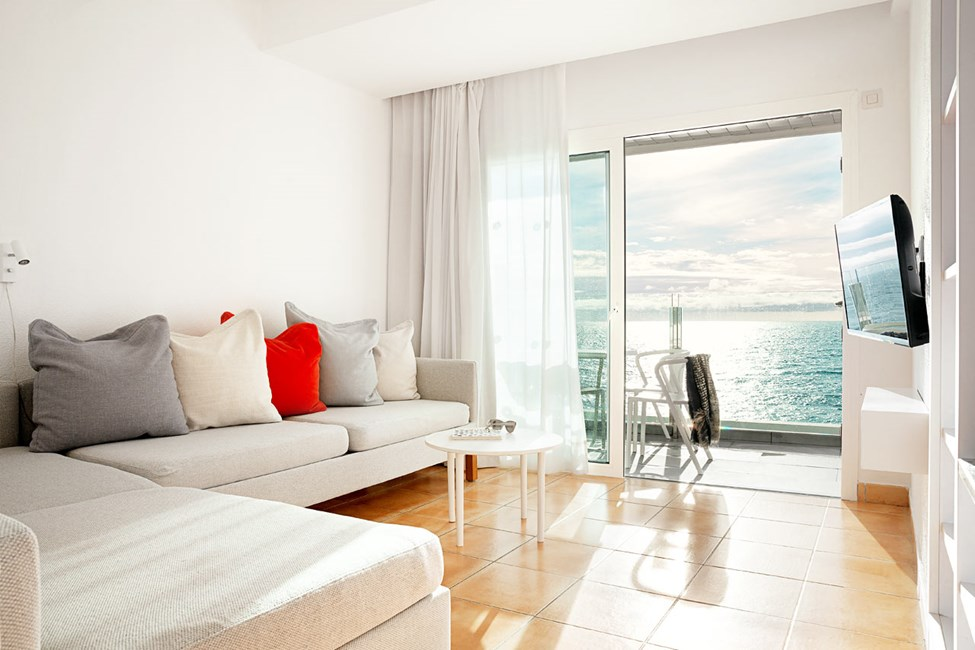 1-værelses Family-lejilghed med balkon med havudsigt og separat sovedel
