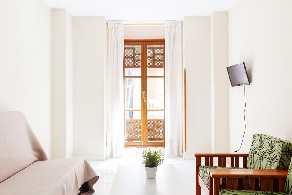2-værelses lejlighed uden udsigt