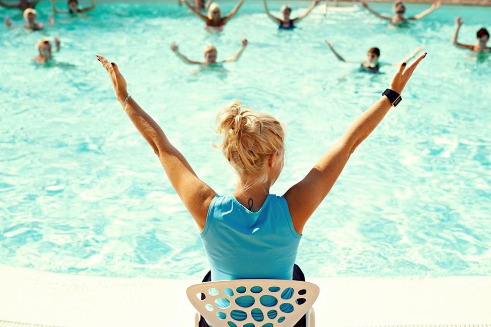 Vandgymnastik er en af de mest populære aktiviteter