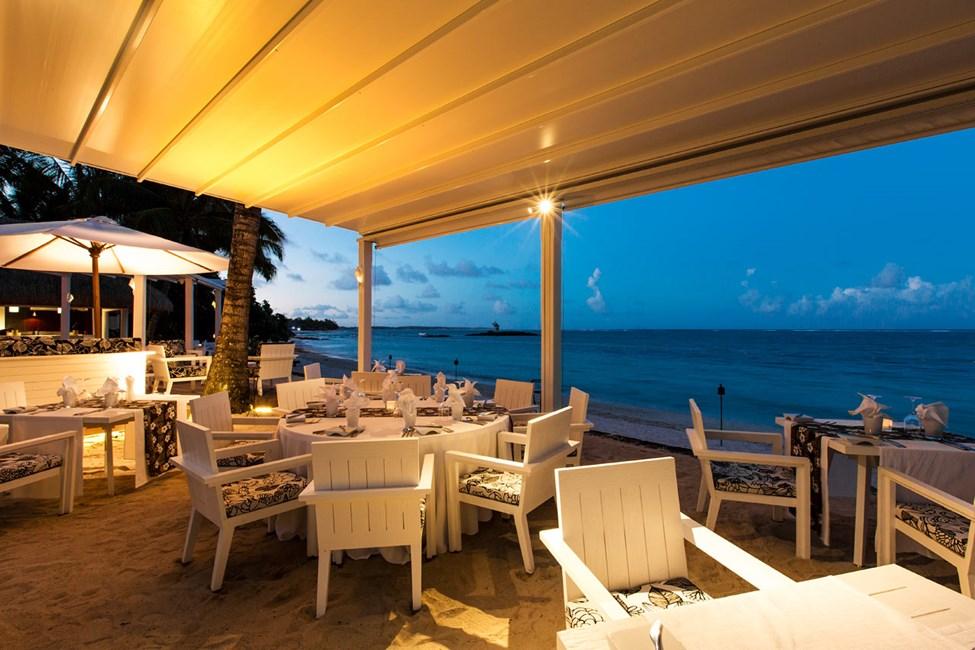 A la carte-restaurant ved stranden