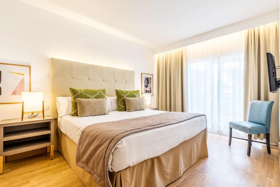 Soveværelser i nogle 2-værelses lejligheder