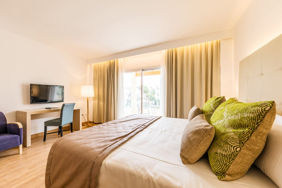 1-værelses lejlighed med balkon og 1-værelses lejlighed med balkon mod haven