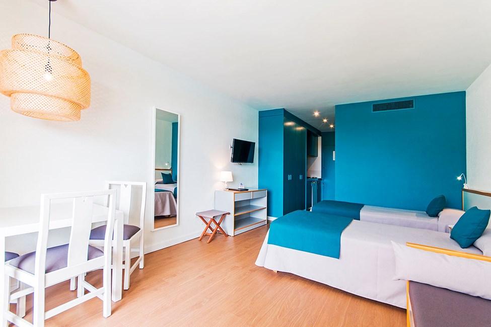 1-værelses lejlighed mod poolområdet