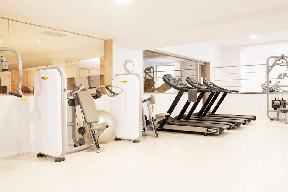 Hotellet tilbyder styrketræning og motionshold