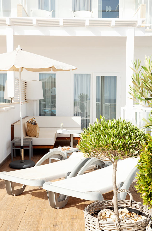 Prime Rooftop Suite med stor terrasse med havudsigt