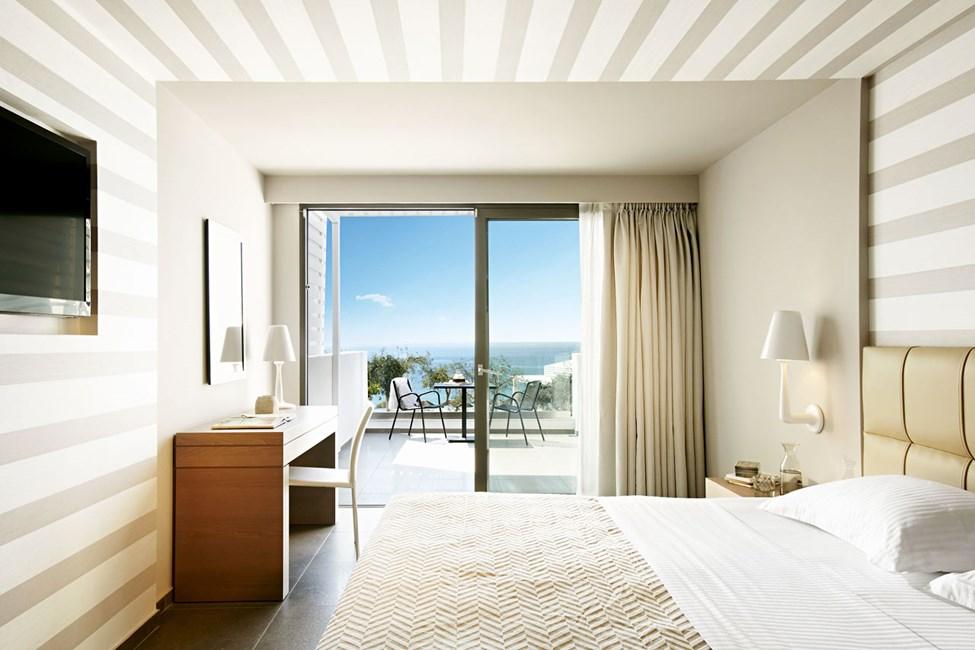 Dobbeltværelse deluxe med to rum og havudsigt