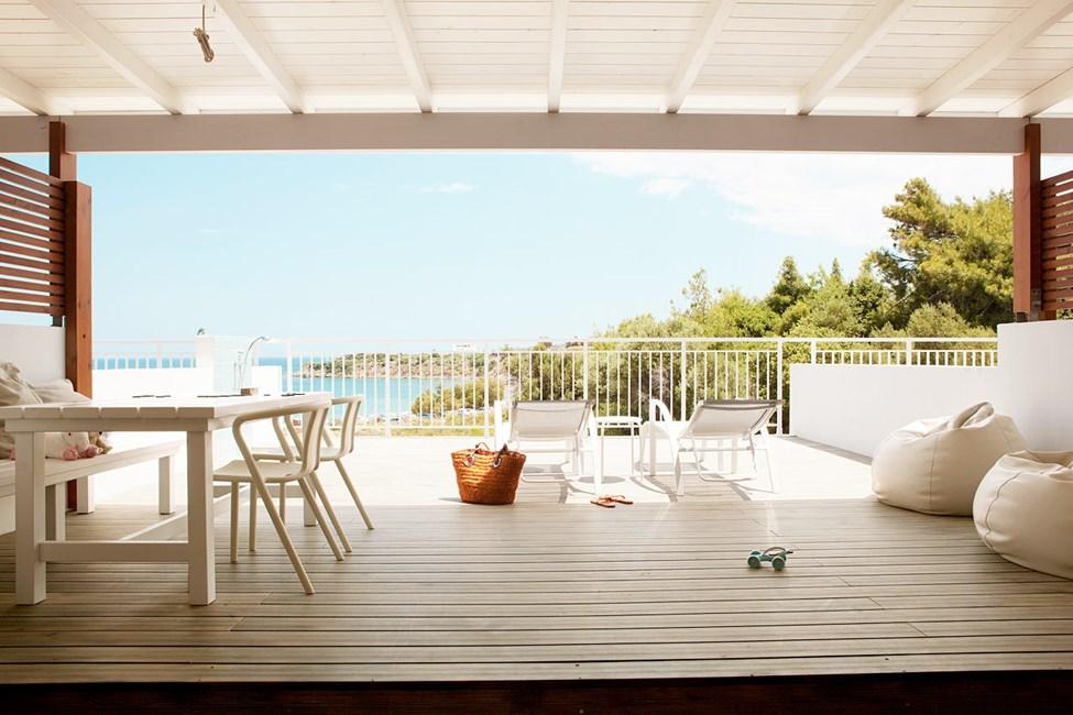 2-værelses Royal Lounge Suite med stor balkon og begrænset havudsigt i Helios