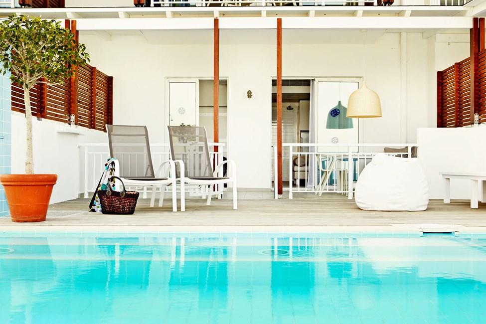 2-værelses Royal Pool Suite med terrasse og direkte pooladgang i Triton