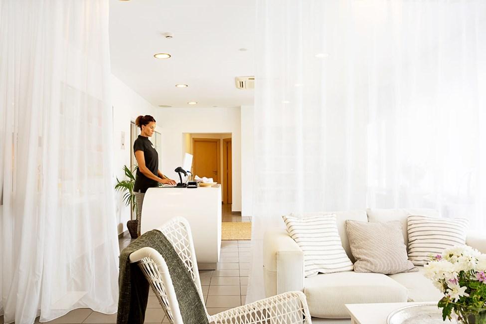 I hotellets spaafdeling kan du bestille skønne og velgørende behandlinger