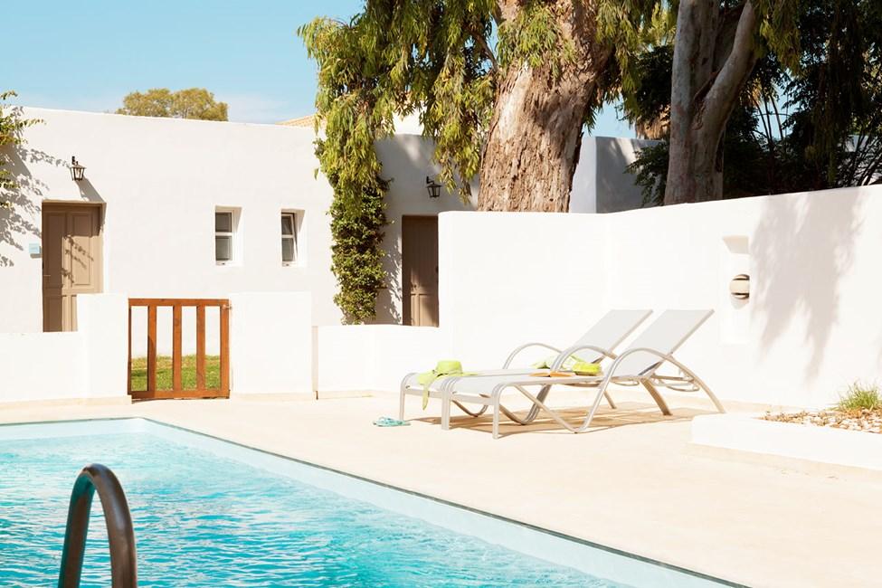Prime Pool Suite med terrasse mod haven samt privat pool