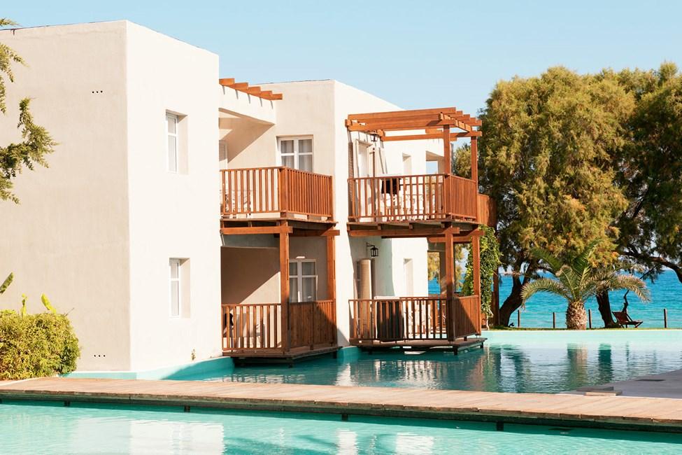 Hotellet tilbyder suiter mod lagunen