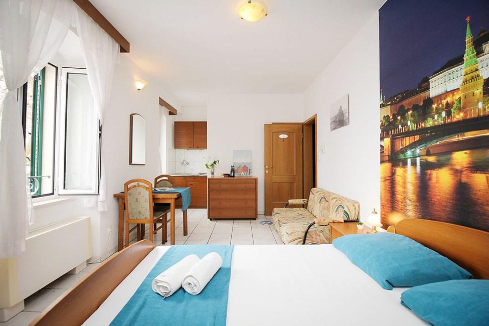 1-værelses lejlighed uden balkon