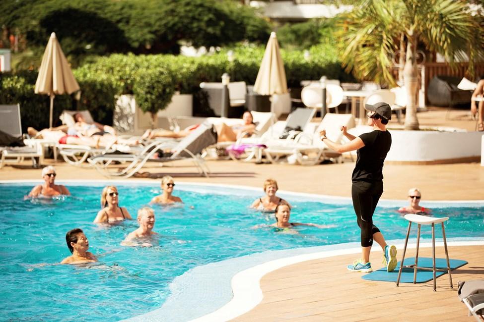 Hotellet tilbyder gratis vandgymnastik