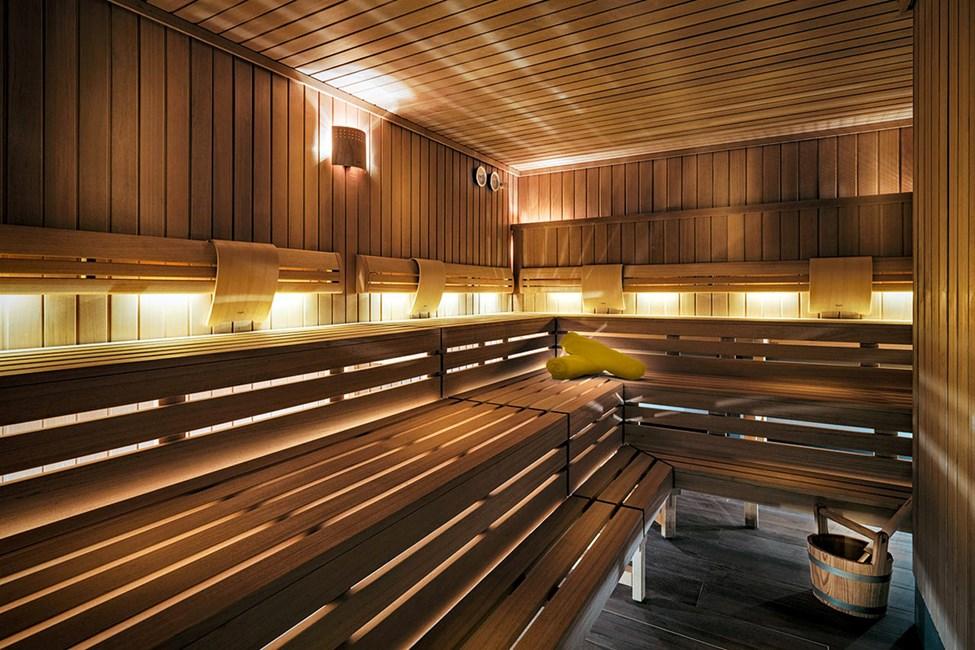Saunaen i hotellets spaafdeling, Spa Ahemon