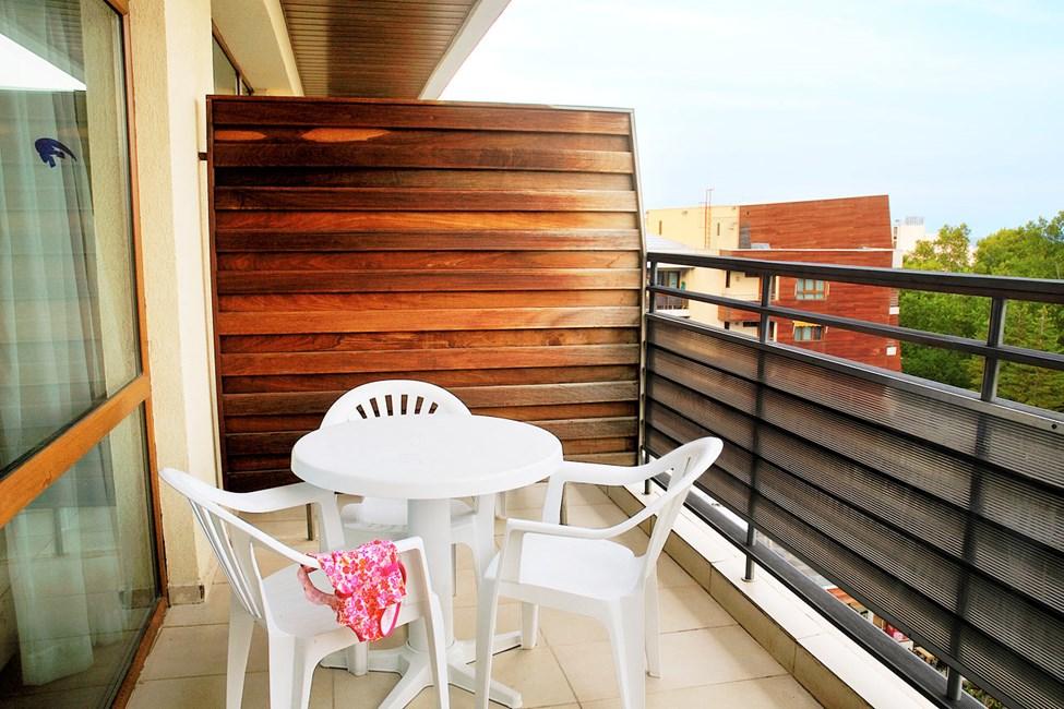 1-værelses lejlighed med balkon