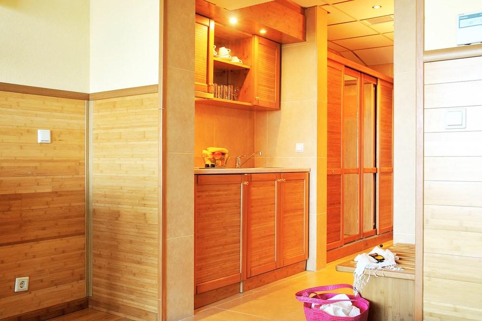 Køkkenniche i 1-værelses lejlighed