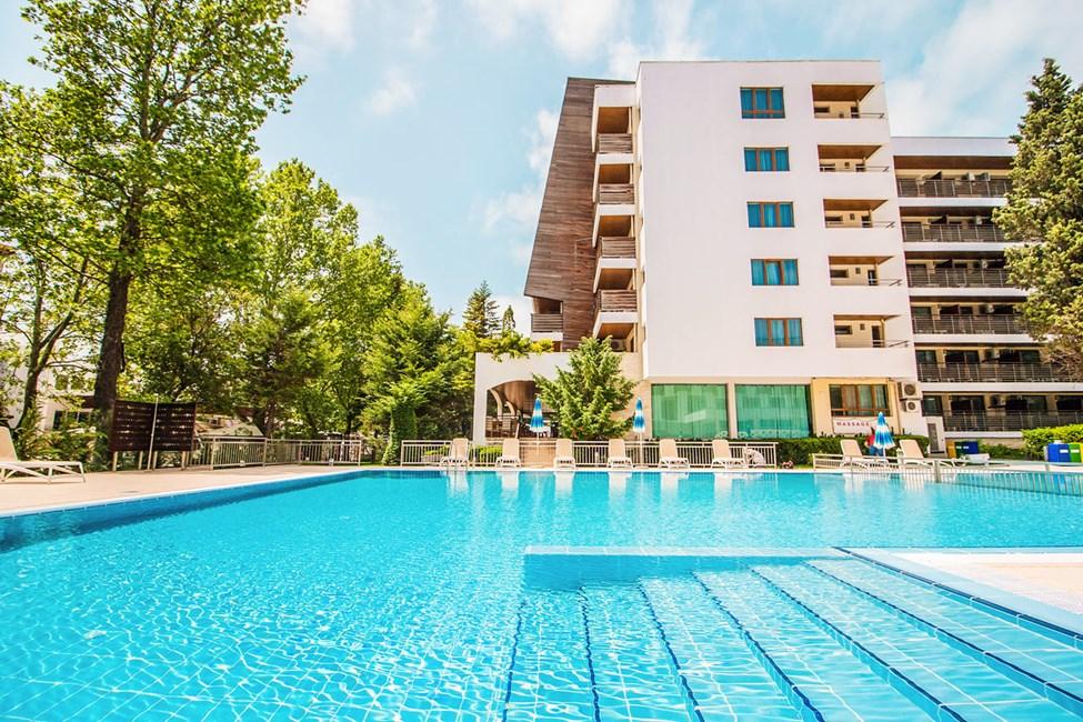 Et af hotellets poolområder