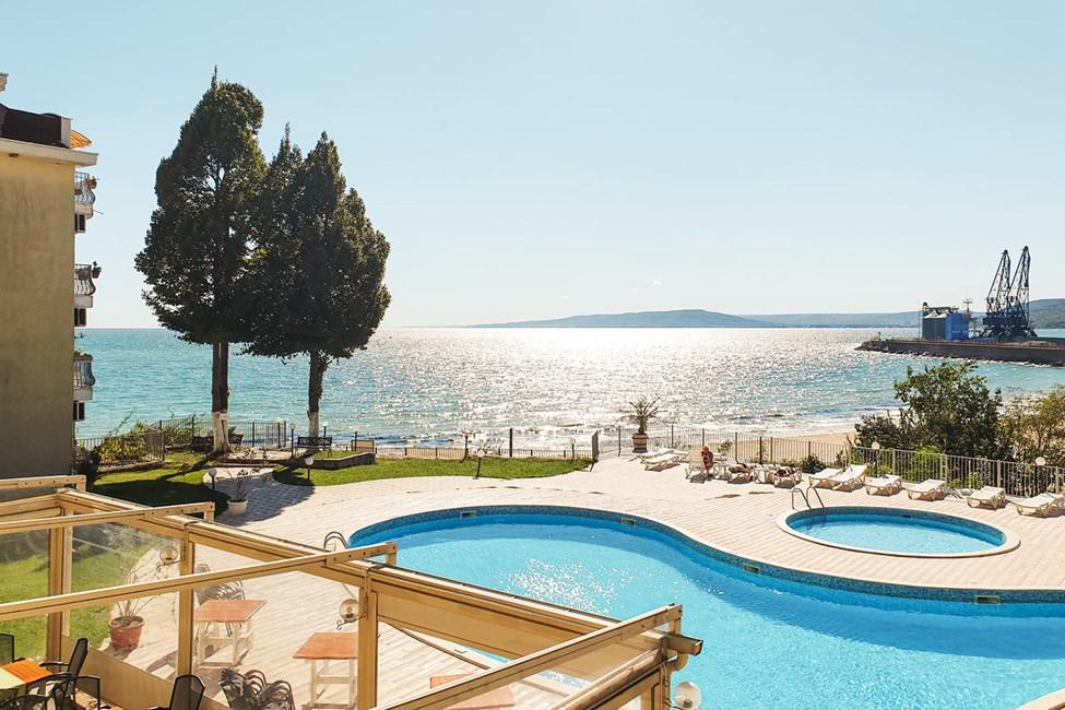 Balkon med havudsigt