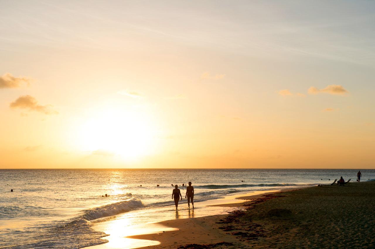 Aruba - Solnedgang ved Divi All Inclusive
