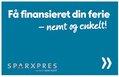 Spies kan i samarbejde med SPARXPRES tilbyde en nem finansiering af din rejse!